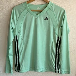 Adidas Mint Green Dri-Fit Long Sleeve Active Top M